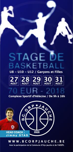 Stage de basketball : du 27 au 31 août 2018