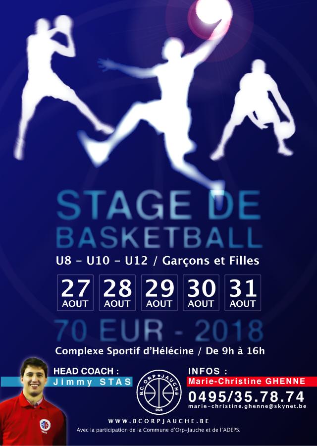 Stage de basket-ball août 2018